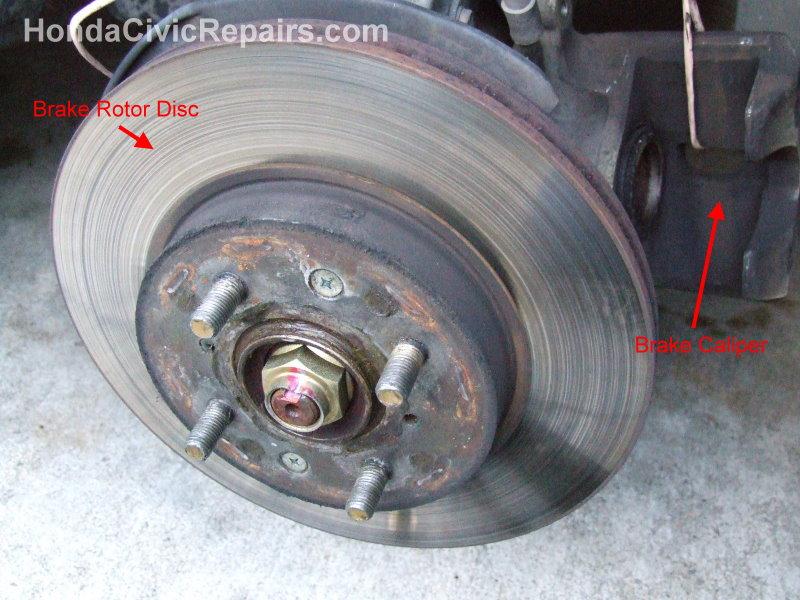 Repairing the Brake Rotor Disc  Honda Civic