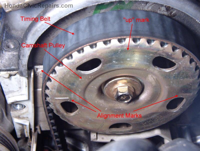 Changing the    Timing       Belt        Honda       Civic
